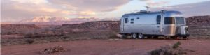 airstream in the middle of a desert