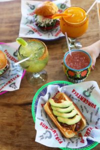 burgerteca hot dogs with acloholic beverages