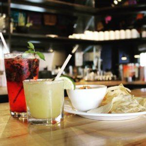 chips and salsa with craft cocktails at sabor cocina bar san antonio