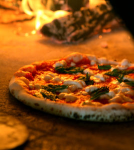 traditional napolenta pizza from dough pizzareia
