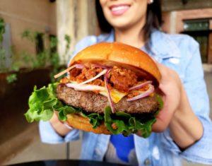 the chorizo burger from fletchers hamburgers