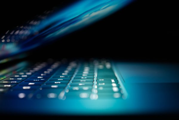 laptop keyboard with backlighting